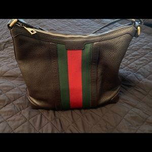 Authentic brown leather Gucci handbag